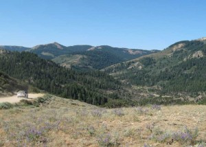 Approaching Silver City, Idaho. View from New York Summit