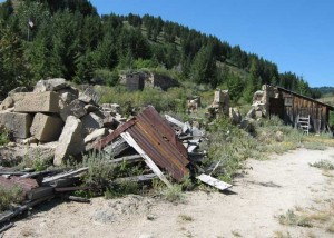 Ruins of stone store building, Silver City, Idaho