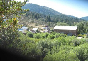 Buildings in Silver City, Idaho overlooking Jordan Creek