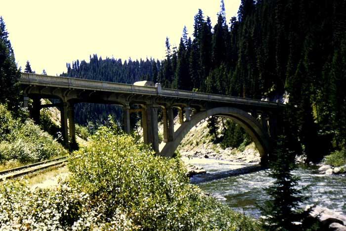 Payette River bridge, above Smiths Ferry, Idaho