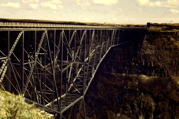 Original Perrine Bridge Twin Falls Idaho American Tradition Almanac