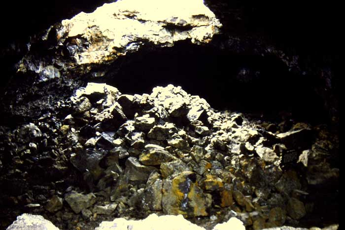 Interior of Cave at Craters of the Moon National Monument, Idaho
