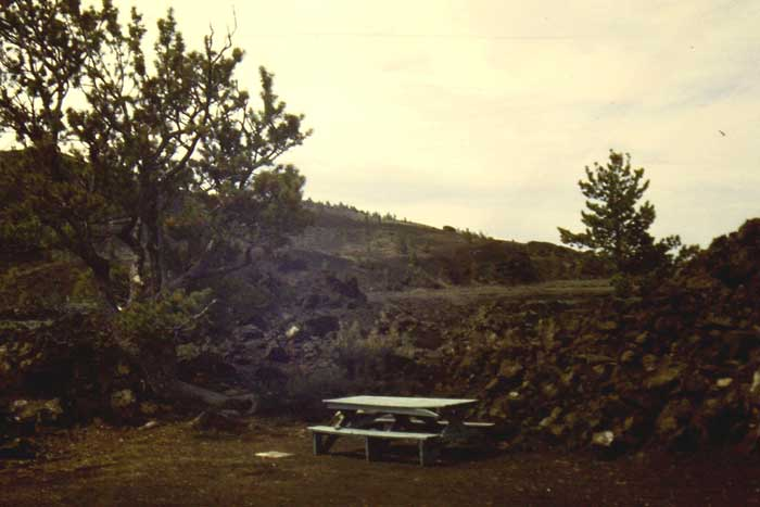 Picnic Area at Craters of the Moon National Monument, Idaho