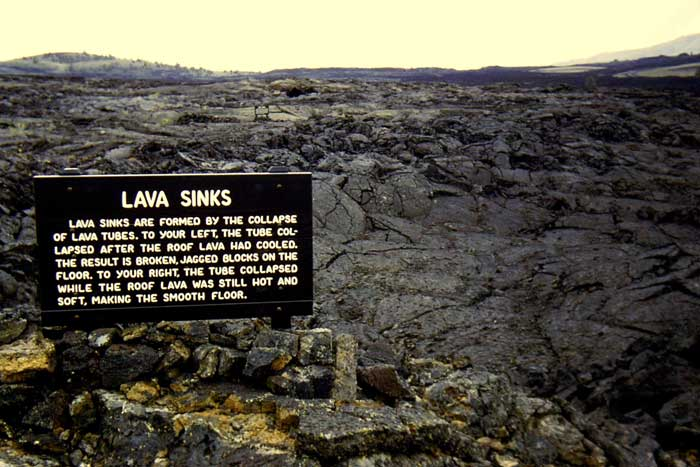 Lava Sinks at Craters of the Moon National Monument, Idaho